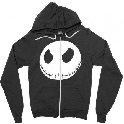Jack Skellington The Nightmare Zipper Hoodie Designed By Mdk Art