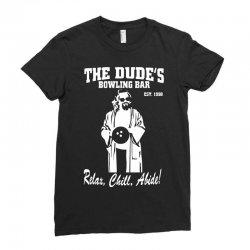 the big lebowski homage Ladies Fitted T-Shirt | Artistshot