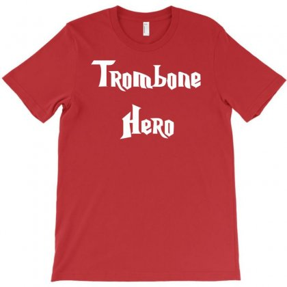 Trombone Hero Funny Music T-shirt Designed By Mdk Art