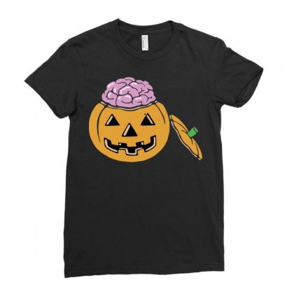 Halloween Pumpkin Ladies Fitted T-shirt Designed By Sbm052017