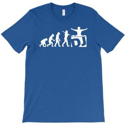 Dj Evolution Funny Music Mixing Djing Disk Jockey Turntable T-shirt Designed By Mdk Art