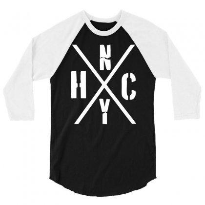Nyhc New York Hardcore Funny 3/4 Sleeve Shirt Designed By Mdk Art