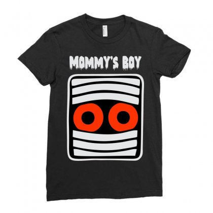 Mommy's Boy Ladies Fitted T-shirt Designed By Sbm052017
