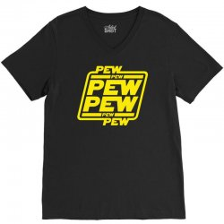 pew pew pew V-Neck Tee   Artistshot