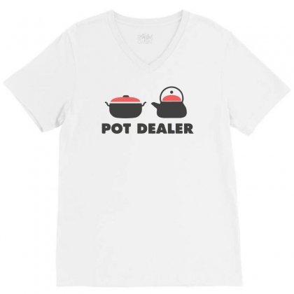 Pot Dealer Cooking Pot Tea Pot V-neck Tee Designed By Mdk Art