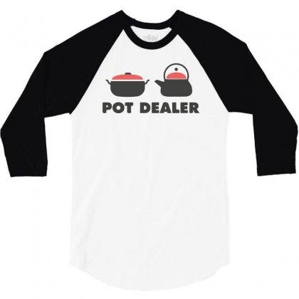Pot Dealer Cooking Pot Tea Pot 3/4 Sleeve Shirt Designed By Mdk Art