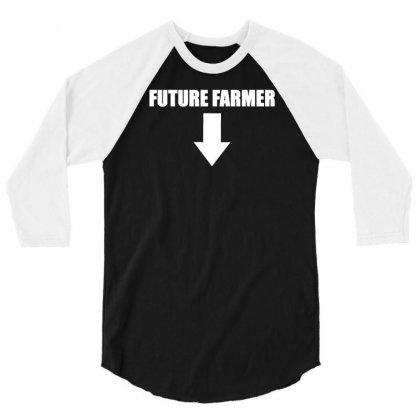 Farmer Future 3/4 Sleeve Shirt Designed By Mdk Art