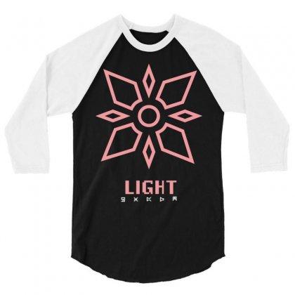 Light 3/4 Sleeve Shirt Designed By Mdk Art