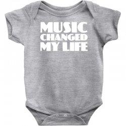 music changed my life Baby Bodysuit | Artistshot