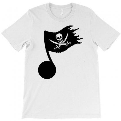 Music Pirate T-shirt Designed By Mdk Art