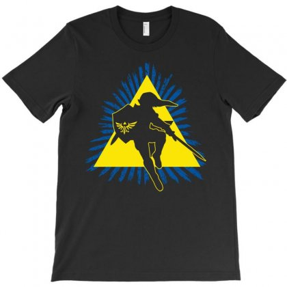 Link In Action T-shirt Designed By Mdk Art