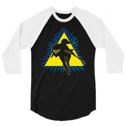 Link In Action 3/4 Sleeve Shirt Designed By Mdk Art