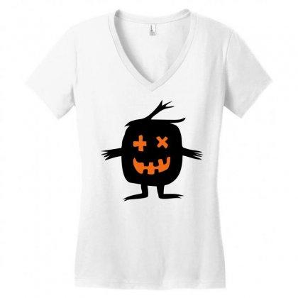 Monster Women's V-neck T-shirt Designed By Sbm052017