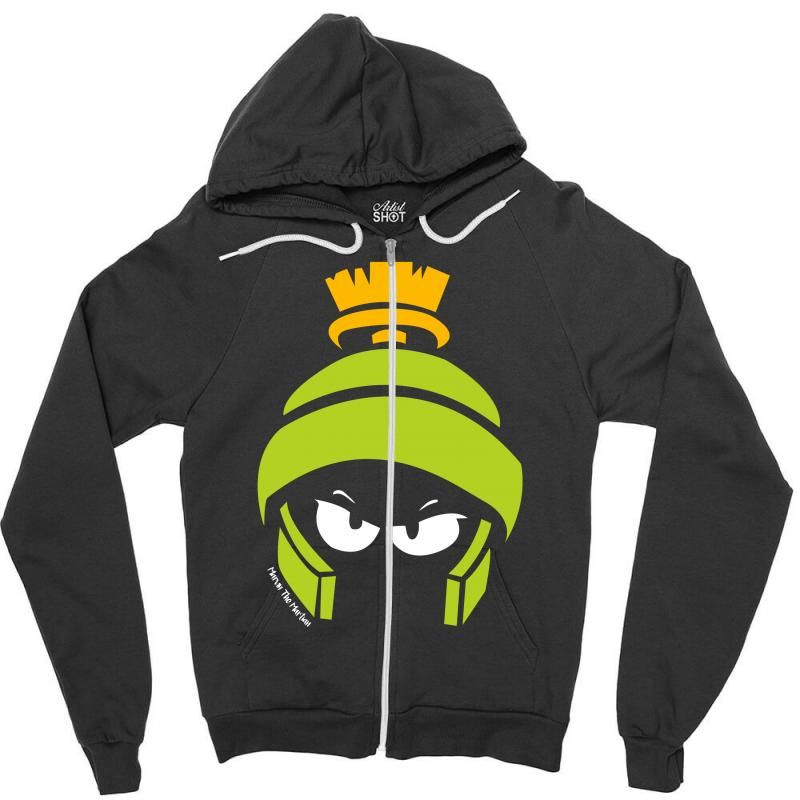 4d36f4a9 Custom Looney Tunes Marvin Zipper Hoodie By Mdk Art - Artistshot
