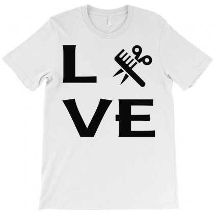 Love Hairstylist T-shirt Designed By Mdk Art