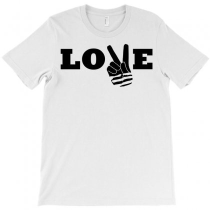 Love Peace T-shirt Designed By Mdk Art