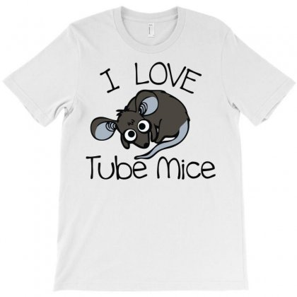 Love Tube Mice T-shirt Designed By Mdk Art