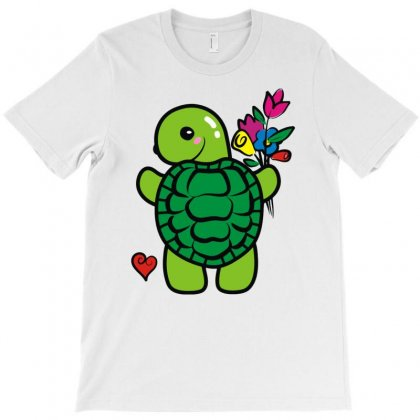Love Turtle T-shirt Designed By Mdk Art