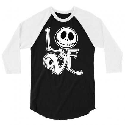 Love 3/4 Sleeve Shirt Designed By Mdk Art