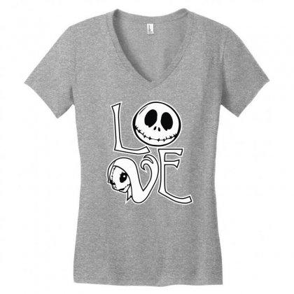 Love Women's V-neck T-shirt Designed By Mdk Art