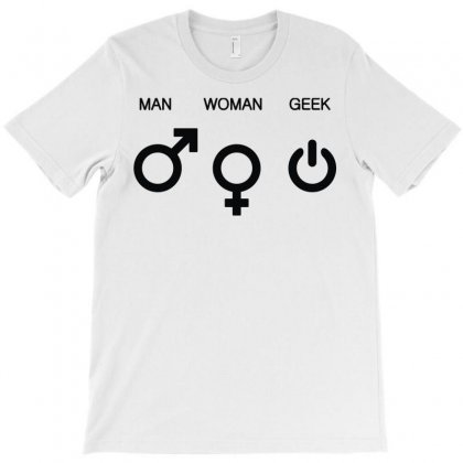 Man Woman Geek Symbols T-shirt Designed By Mdk Art
