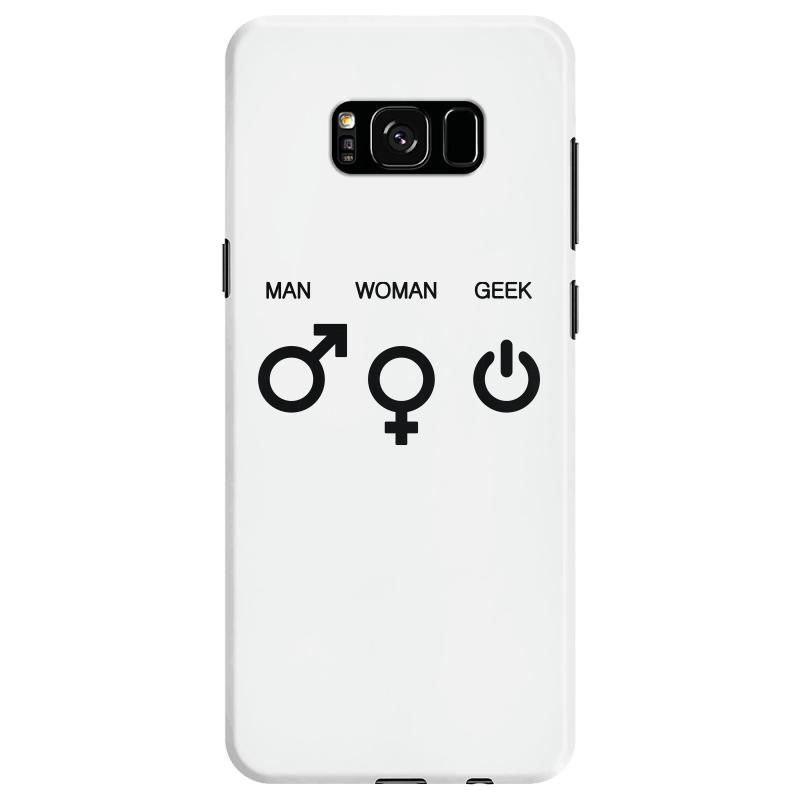 Man Woman Geek Symbols Samsung Galaxy S8 Case  By Artistshot