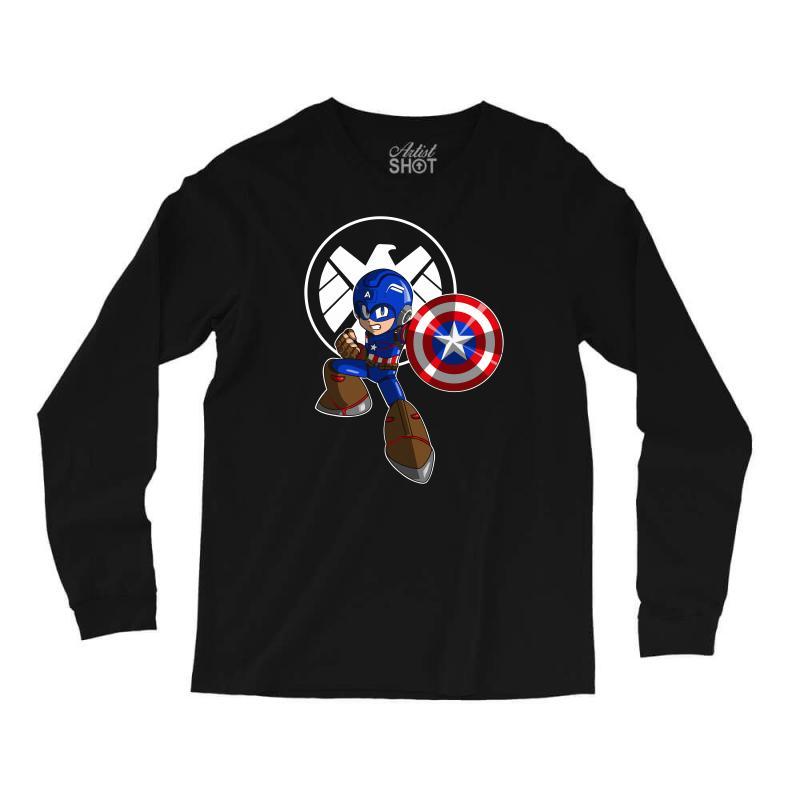 Mega Capt Long Sleeve Shirts   Artistshot