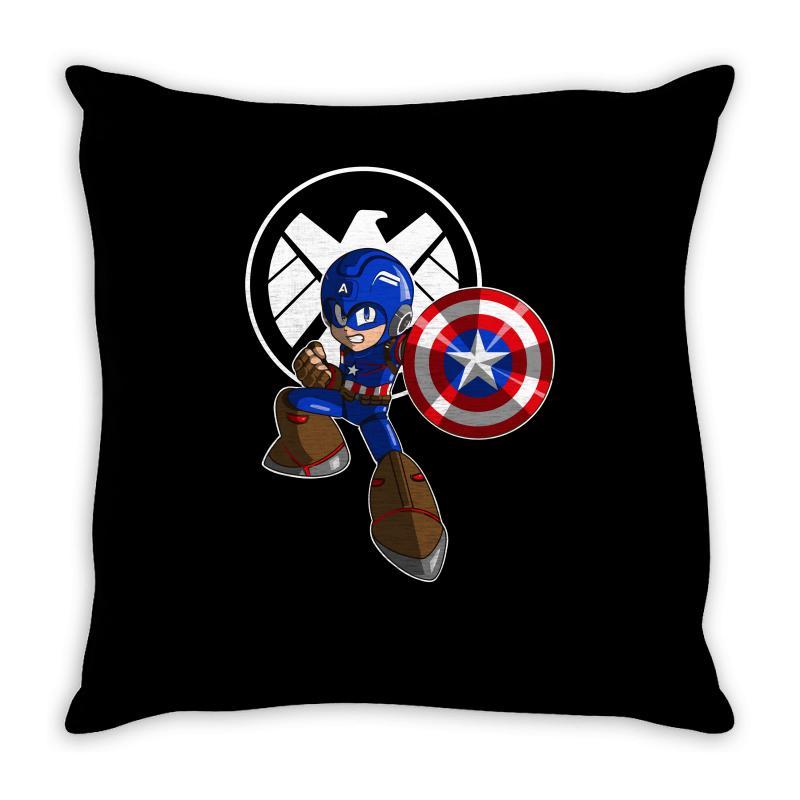 Mega Capt Throw Pillow | Artistshot