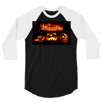Halloween 3/4 Sleeve Shirt Designed By Riyan28