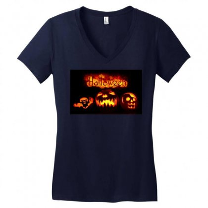 Halloween Women's V-neck T-shirt Designed By Riyan28