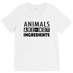 Animals Are Not Ingredients V-Neck Tee | Artistshot