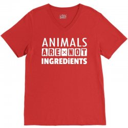 Animals Are Not Ingredients V-Neck Tee | Artistshot