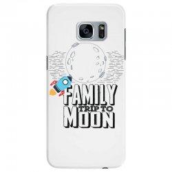 Family Trip To Moon Samsung Galaxy S7 Edge Case   Artistshot