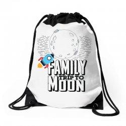 Family Trip To Moon Drawstring Bags   Artistshot