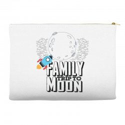 Family Trip To Moon Accessory Pouches   Artistshot