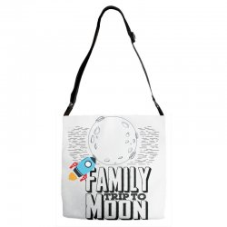 Family Trip To Moon Adjustable Strap Totes   Artistshot