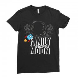Family Trip To Moon Ladies Fitted T-Shirt | Artistshot