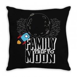 Family Trip To Moon Throw Pillow | Artistshot