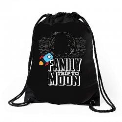 Family Trip To Moon Drawstring Bags | Artistshot