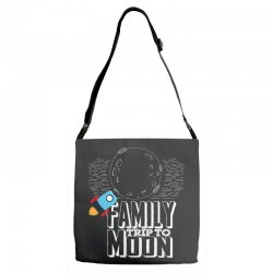 Family Trip To Moon Adjustable Strap Totes | Artistshot