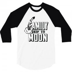 Family Trip To Moon 3/4 Sleeve Shirt | Artistshot