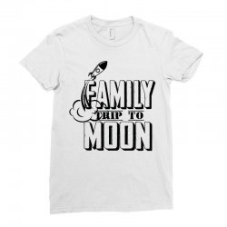 Family Trip To Moon Ladies Fitted T-Shirt   Artistshot