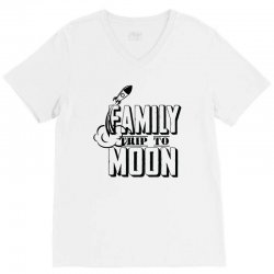 Family Trip To Moon V-Neck Tee | Artistshot