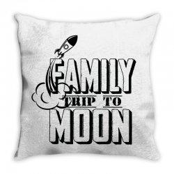 Family Trip To Moon Throw Pillow   Artistshot