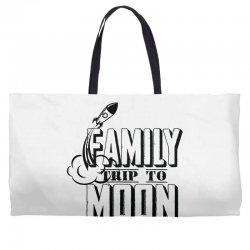 Family Trip To Moon Weekender Totes   Artistshot
