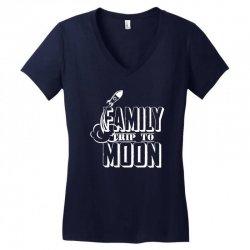 Family Trip To Moon Women's V-Neck T-Shirt | Artistshot