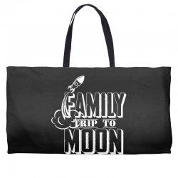 Family Trip To Moon Weekender Totes | Artistshot
