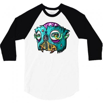 Monster 12 3/4 Sleeve Shirt Designed By Mdk Art