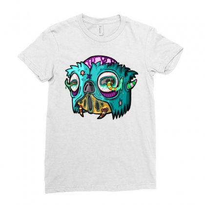 Monster 12 Ladies Fitted T-shirt Designed By Mdk Art