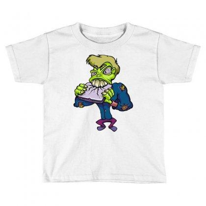 Monster Cartoon Character 14 Toddler T-shirt Designed By Mdk Art